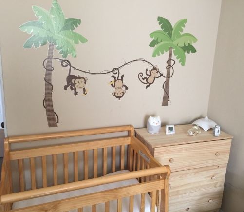 baby in one bedroom apartment. In Our Living Room, We Have A Swing And Bouncy Chair Set Up His Diaper Changing Area Corner. Means Pad On Baby One Bedroom Apartment